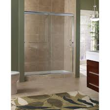 tub with glass shower door foremost marina 60 in x 72 in h semi framed sliding shower door
