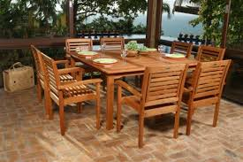 Patio Table Grill Wood Patio Furniture Outdoor Adjoining Chair Set Pool Deck Grill