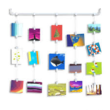 hanging pictures with wire and clips cool ways to hang pictures cable art display best wall hanging hooks