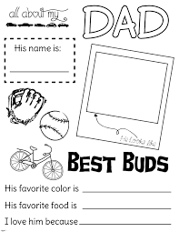 all about my dad fathers day handout fillout coloring page lds