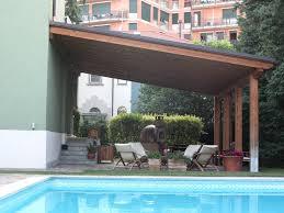 tettoia in legno per terrazzo tettoia legno lamellare completa di lattoneria perego lecco