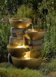 Unique Garden Decor Unique Garden Fountains With Lights Sun Villa Faux Stone 37h