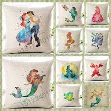 disney princess home decor details about little mermaid ariel disney princess cushion cover