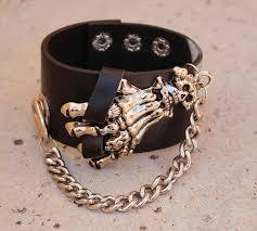 leather hand bracelet images Punk skeleton hand leather bracelet wow jewellery online jpg