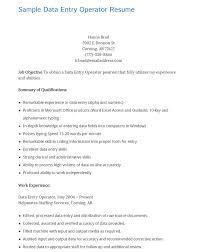 10 data entry resume templates free pdf samples