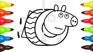 peppa pig the playground wheel swing coloring book pages video for