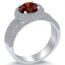 natural diamond rings images 2 75 ct fancy red natural diamond engagement ring 14k white gold jpg