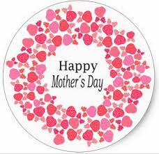mothers day stickers 3 8cm floral happy mothers day classic sticker in stickers