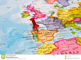 A Map Of Spain by Map Of Spain With A White Pushpin Stock Images Image 37674274