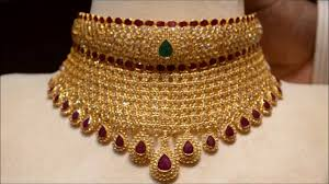 jewellery choker necklace images Precious gold and rubies choker design jpg