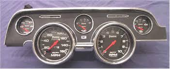mustang custom gauges beautiful 67 68 mustang gauges