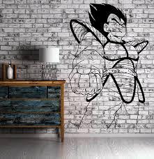 amazon com vegeta dragon ball z cartoon anime manga decor wall amazon com vegeta dragon ball z cartoon anime manga decor wall mural vinyl art sticker m434 home kitchen