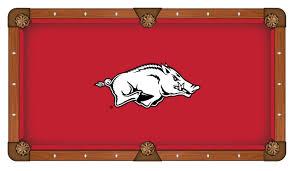 Arkansas Razorback Home Decor by Pool Table Cloth W Razorbacks Logo By Hainsworth