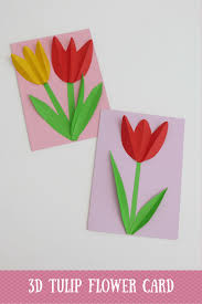 3d tulip flower mother day card tulips flowers flower cards and 3d