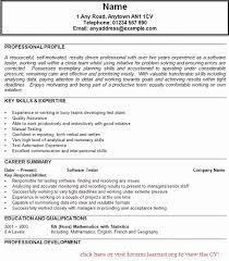 resume formatting software sle resume for software tester fresher generator test