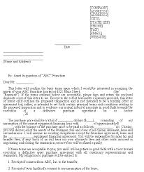 sample letter of intent franchise purchase template download