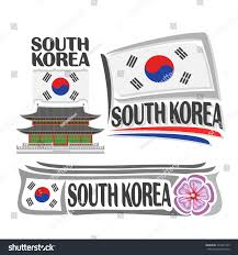 Seoul Flag Vector Logo South Korea 3 Isolated Stock Vector 523245799