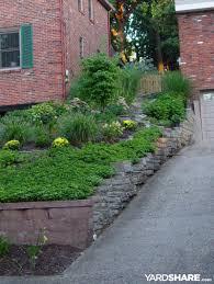 landscape design front yard slope sloped front yard yards porch