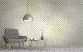 mustard wallpaper geometric high end interior design surface house