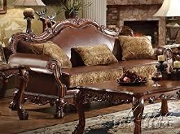 sofa dresden acme 15160 dresden sofa with 3 pillows chenille pu