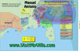Map Walking Distance Manuel Antonio Maps Costa Rica Villa Manuel Antonio Vacation