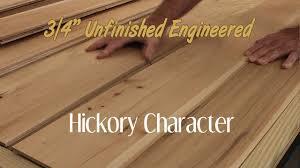unfinished engineered hickory character hardwood flooring 3 4