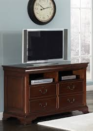 Deep Office Desk Louis Jr Executive Home Office Desk In Deep Cherry Finish By