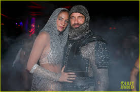 halloween mark gerard butler is his mystery girlfriend u0027s knight on halloween
