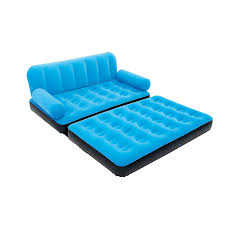 Air Mattress Sofa Bed by Karmax Bestway Three Seater Sofa Cum Bed Blue Amazon In Home
