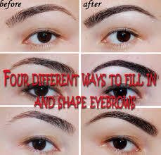 How To Tweeze Your Eyebrows Beautify And Creatify Four Different Ways To Fill In And Shape