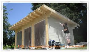how to look after a summerhouse preserve then stain or paint
