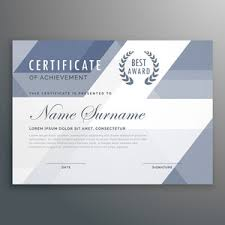 swimming award certificate template illustration royalty free
