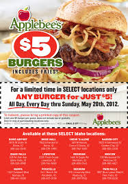 applebees coupons on phone your dollar 5 burgers at applebee s