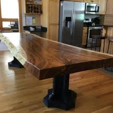 Pedestal Bases For Dining Tables Live Edge Dining Table With A Crafted Custom Pedestal Base