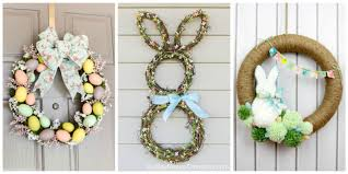 10 diy easter wreath ideas how to make a cute easter door wreath