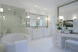 white framed mirrors for bathrooms large mirrors in the bathroom 5 inspirations