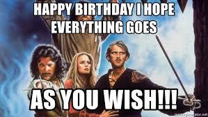 Birthday Princess Meme - happy birthday i hope everything goes as you wish princess