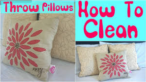 how to clean throw pillows cleaning throw pillows youtube