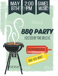 backyard bbq background invitation template stock vector art