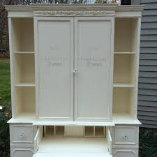 Furniture Secretary Desk Cabinet by Furniture Traditional Tall White Secretary Desk With Cabinet And