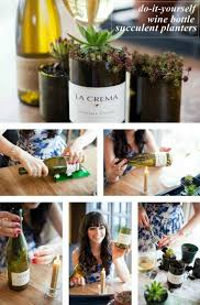 wine bottle succulent planter easy diy video tutorial