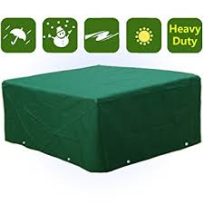 waterproof heavy duty rectangular furniture cover patio garden table