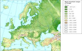 World Mountain Ranges Map by European Environment Agency U0027s Home Page U2014 European Environment Agency