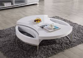 Modern White Coffee Table Coffee Table Extraordinary Round White Coffee Table Round White