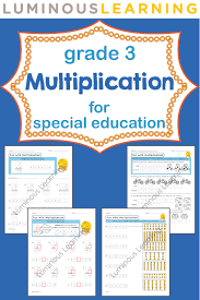 luminous learning grade 3 multiplication workbook empowers special