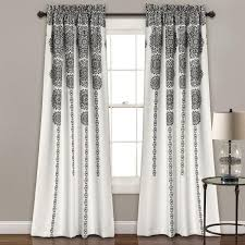 Black Gray Curtains Window Shopping