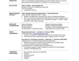 civil engineering student resume internships objective for engineering resume technician career student civil