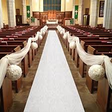 aisle runners for weddings healon wedding aisle runner 100 x 3 ft white aisle