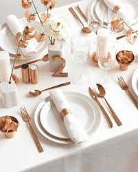 copper and white color palette ideas to add shine to your wedding