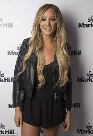 crosby hair extensions geordie shore s crosby in jumpsuit with ferry